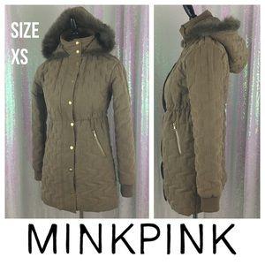 Minkpink puffy coat XS & cinch waistline !